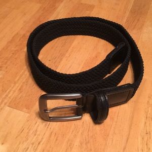 Other - Braided stretchy black belt M 34-36
